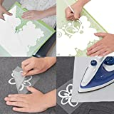 "Heat transfer iron on vinyl roll , PU material, 10"" x 10', white color, teflon sheet 12""x10"" included, compatible with silhouette cameo cricut, suitable for professionals"