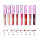 8Pack Lip Gloss Collection Liquid Matte Tint Lipstick Waterproof Long-lasting Velvet Lipgloss Makeup Set (Matte)