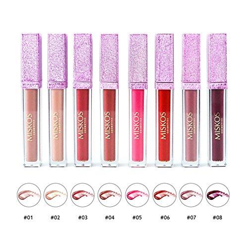 8Pack Lip Gloss Collection Liquid Matte Tint Lipstick Waterproof Long-lasting Velvet Lipgloss Makeup Set (Matte)