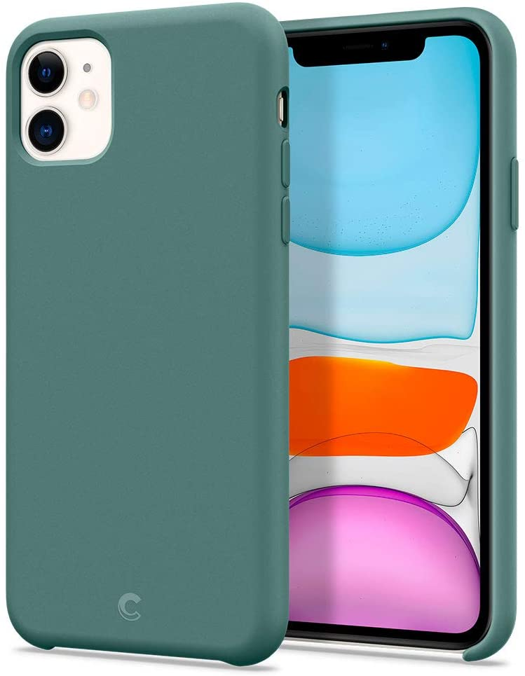 CYRILL Silicone Designed for Apple iPhone 11 Case (2019) - Pine Green