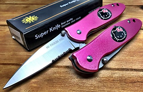 hello-kitty-spring-assisted-custom-made-pocket-knife-sharp-outdoor-hunting-collectible-pink