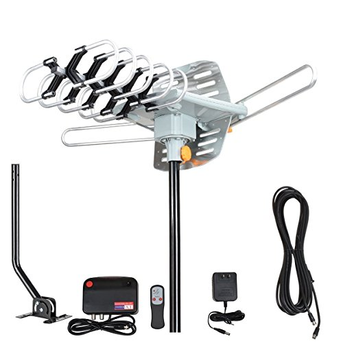 HDTV Antenna Outdoor,FM Amplifier Antenna,HD Antenna with Dual Outputs Smart Boost System,Amplifier Signal Booster Support a Second TV or Any OTA-Ready Streaming Device or Projector review