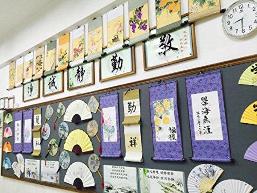 JZ014 Hmayart kakejiku Blank Mounting Hanging Wall Scroll Set for Kanji, Sumi and Chinese Calligraphy (6pcs/Set) (Scroll Size: 14.96'' x 41.34'' (38 x 105 cm)) by Hmayart (Image #8)