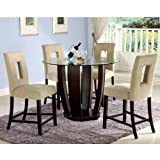 West Palm II 5-Piece Counter Height Dining Table Set