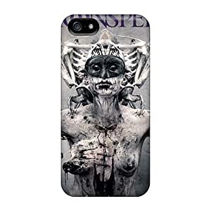 Scratch Protection Hard Phone Covers For Iphone 5/5s (Ctp5012daRA) Customized High Resolution Moonspell Band Morbid God Pattern