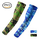UV Protection Cooling Arm Compression Sleeves - kimyer Sun Sleeves for Women& Men Suit for Cycling Driving Running Golf Basketball Football Outdoor Activities,Size M, 2 Pairs