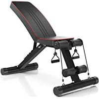 NIMO Verstelbare halterbank,Fitnessbank,multifunctionele gewichthefbank met verstelbare plaat, volledige training…