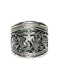 Silver Ring Adjustable Ring Tribal Ring Boho Ring Gypsy Ring Tibetan Ring