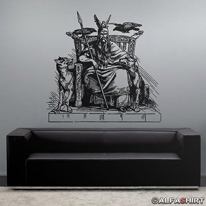 7733 tatuajes adhesivos de pared 45 x 46 cm negro Odin Viking ...