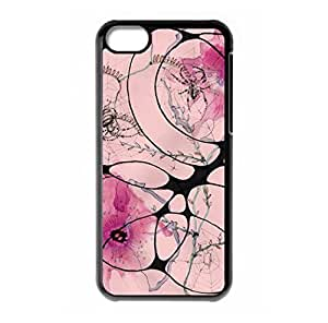 Pink flower printing for iPhone 5C hard back case