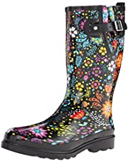 Western Chief Women's Garden Play Rain Boot Printed Tall