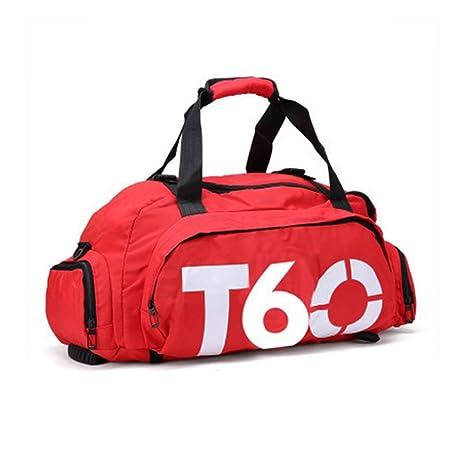 Impermeable Gimnasio Bolsa deportiva Entrenamiento físico Mochilas al aire  libre Bolso multifuncional para equipaje de viaje para hombres a42f32aed5d7d