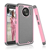 Moto X4 Case, Tinysaturn [YSaturn Series] [Fresh Pink] Hybrid Shock Absorbing Dual Rubber Plastic Scratch-Proof Defender Bumper Rugged Hard Shell [Drop Protection] Cover Case For Motorola Moto X4 For Sale