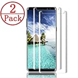 [2-Pack] Samsung Galaxy Note 9 Screen Protector, Caerrn 3D Screen Coverage Glass [Curved] [Bubble-Free] [9H Hardness] [Anti-Scratch] Tempered Glass Screen Protectors Galaxy Note 9