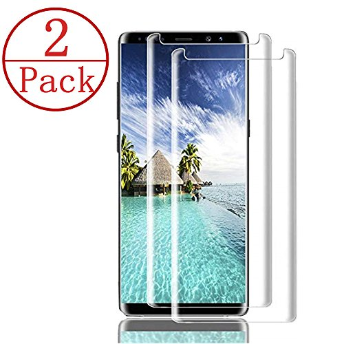 [2-Pack] Samsung Galaxy Note 9 Screen Protector, Caerrn 3D Screen Coverage Glass [Curved] [Bubble-Free] [9H Hardness] [Anti-Scratch] Tempered Glass Screen Protectors Galaxy Note 9 by LuettBiden (Image #7)