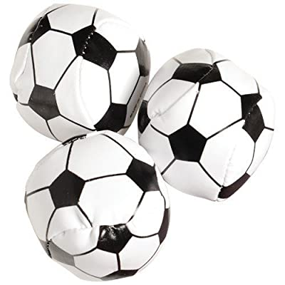 "USToy Soccer Balls Party Favors -Assorted Colors,Size 1 3/4"" Approx,Lot of 12"