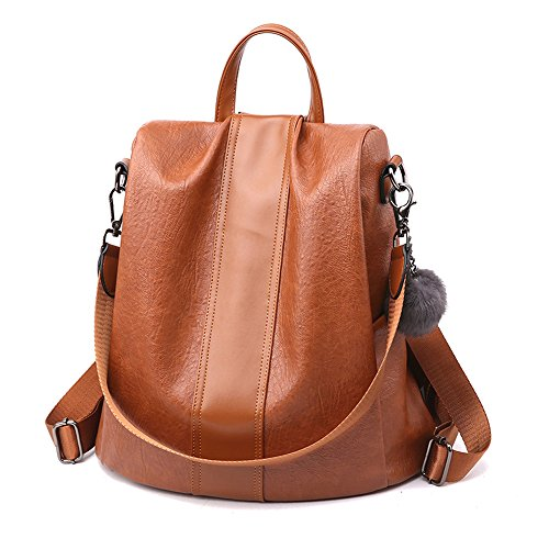 Herald Fashion Women Anti-theft Backpack Waterproof Rucksack Shoulder School ()