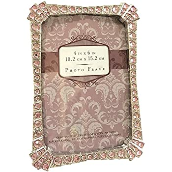 Amazon Com Sheffield Home Rhinestone Jeweled Silver Pink