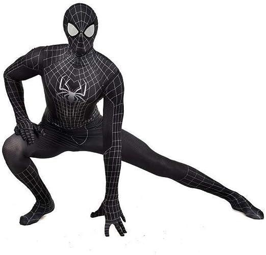 Rmckj-Q Disfraz De Spiderman Negro SuperSkin - Hombres Y Mujeres ...