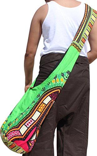 Strap Bag Pattern Reversable Monks Light Green Dashiki Orange Long Shoulder RaanPahMuang U0Cpwpq