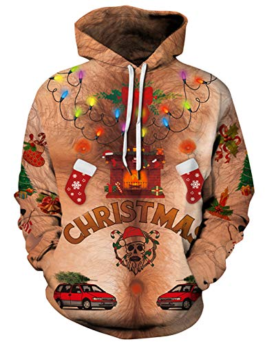 Goodstoworld Men Women Ugly Christmas Hoodies Sweater Sweatshirt