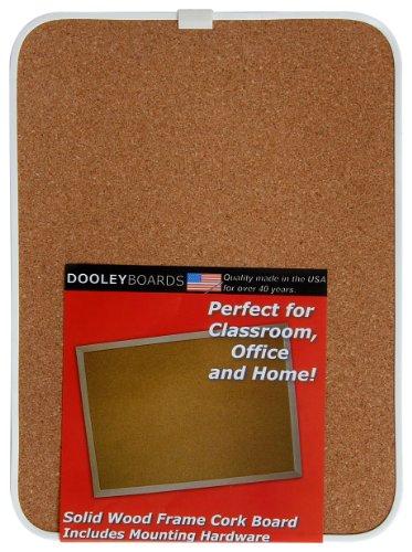 Dooley Boards Vinyl - Dooley Vinyl Framed Cork Board, 8.5 x 11 Inches, 1 Board (811COV)