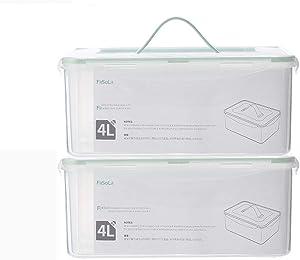 JYHYGS Refrigerator Storage Box compartmented Fresh-Keeping Box Grains Storage Box Food Sealed Box Transparent Storage Box Large
