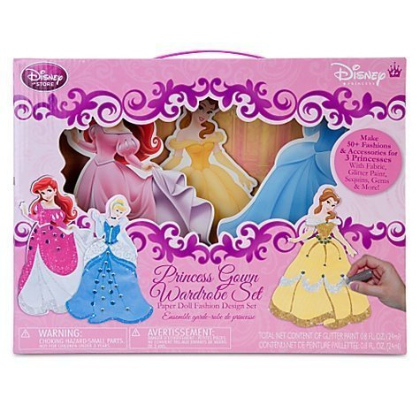 Disney Princess Paper Dolls - Fashion Design Disney Princess Paper Doll Set