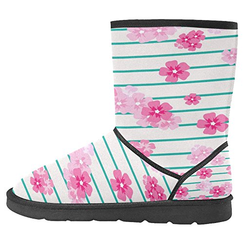Womens Comfort 12 InterestPrint Multi Designed Winter Snow Boots Unique Boots Zdwqwvf