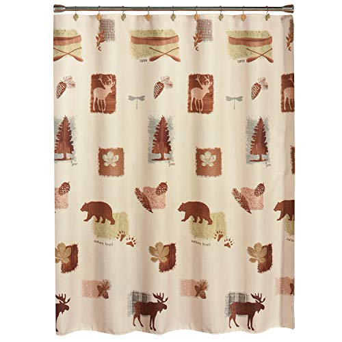 SKL Home by Saturday Knight Ltd. Natures Trail Shower Curtain, Natural