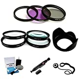 37mm Filter Kit (UV, CPL, FLD), Lens Hood & Close-Up Macro Filter Set (+1 +2 +4 +10) for Select JVC Everio Camcorders. Bundle Includes: Lens Cleaning Pen, Cap Keeper & UltraPro Lens Cleaning Kit