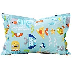 Brandream Kids Bed Pillow Shams Boys Pillowcases Standard Size Pillow Covers 100% Cotton 2Pcs