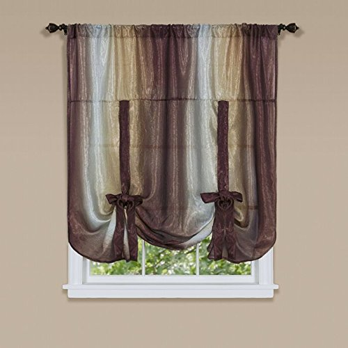 (Park Avenue Collection Ombre Tie Up Shade 50x63 - Chocolate)