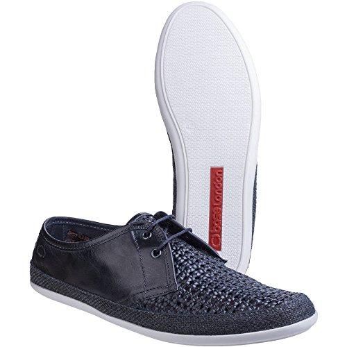 Base London Tent - Zapatos de Cordones de cuero hombre Navy