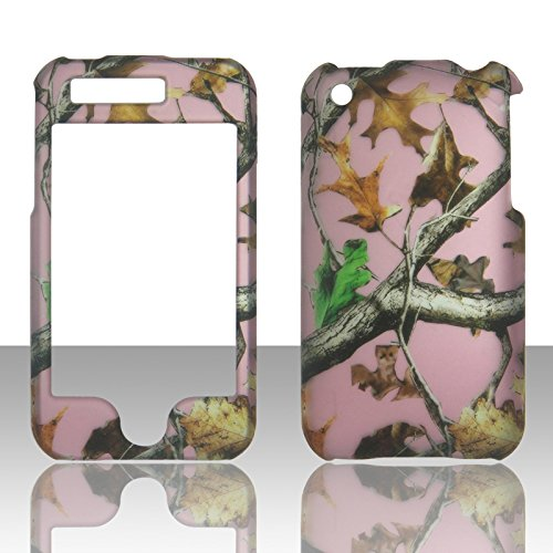 Rubberized Faceplate Phone - 2D Pink Camo Trunk V Mapple Apple Ipod Touch 2nd 3rd Generation (2 , 3) Case Cover Hard Phone Case Snap-on Cover Rubberized Touch Pine Faceplates