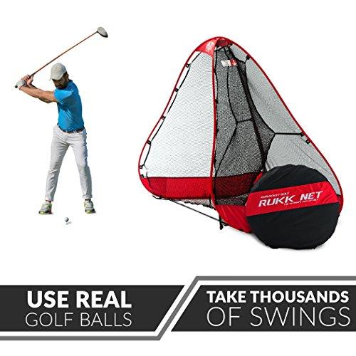 Rukket 10x7ft Pop Up Golf Net | Orginal Rukknet | Practice Driving Indoor and Outdoor | Backyard Swing Training Aids by Rukket Sports (Image #1)