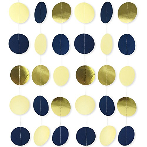 navy blue party decorations