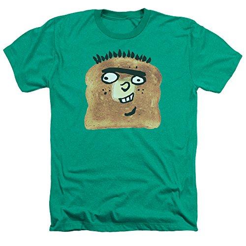 Ed EDD N Eddy Ed Toast Unisex Adult Heather T Shirt for Men and Women, Large Kelly Green