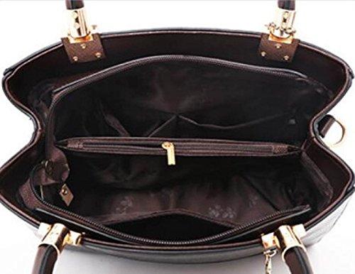 Bolso De Hombro De Mujer De CHFUD Bolso Colgante De Cuero Moda Vintage Brown