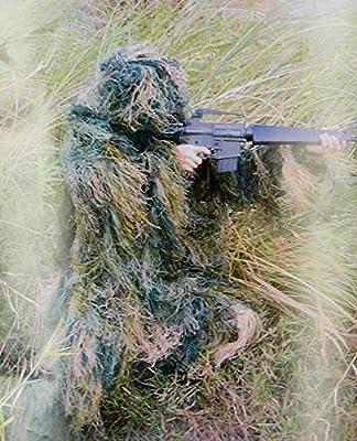 KRF Hunting 3D Ghillie Phantom Desierto Traje de Camuflaje, Hombre ...