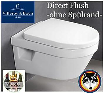 5684HR01 Villeroy /& Boch Architectura Combi-Pack Toilette ohne Spülrand..