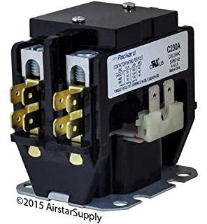 goodman - 30 amp 2 pole 24v coil replacement contactor c230a
