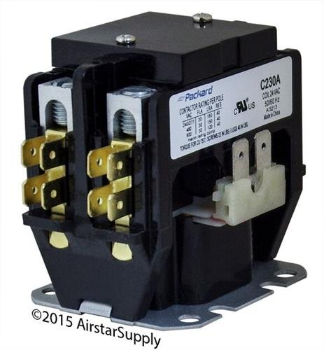 Goodman - 30 Amp 2 Pole 24v Coil Replacement Contactor C230A Amps 2 Pole 24 Coil
