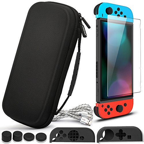 Shopper Thoughtful (Carring Case for Nintendo Switch, Wellead Black Travel Hard Shell Case for Nintendo Switch)