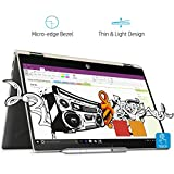HP Pavilion x360 Convertible 14-cd0078TU 14 inch FHD Slim Laptop with Pen (8th Gen Intel Core i3-8130U/256 GB SSD/4GB RAM/Windows 10 Home/Microsoft Office Home and Student 2016/Integrated Graphics/Type-C), Pale Gold