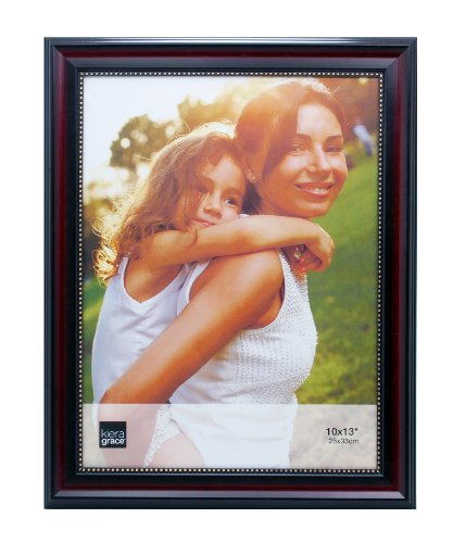 Kiera Grace Lucy Picture Frame, 10 by 13-Inch, Dark Brown with Gold Beading