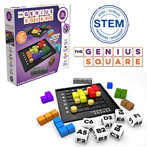- The Genius Square - Game of the Year Nominee! 60000+ Solutions STEM Puzzle Game! Roll the Dice & Race Your Opponent to Fill The Grid by Using Different Shapes! Promotes Problem Solving Training