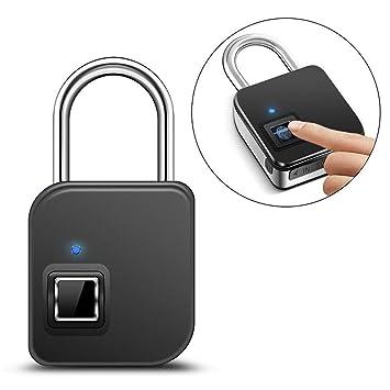 Candado huella digital, candado llave portátil inteligente IP65 Candado llave huella impermeable Candado llave antirrobo