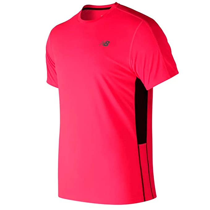 New Balance Camiseta Running Hombre Accelerate Pink MT73061 (L ...