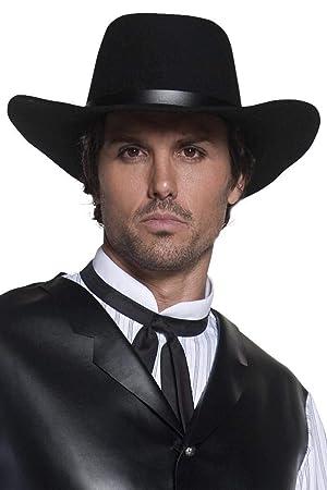 7d39e5717bafe Smiffy s Smiffys-36338 Sombrero de Pistolero del Oeste auténtico